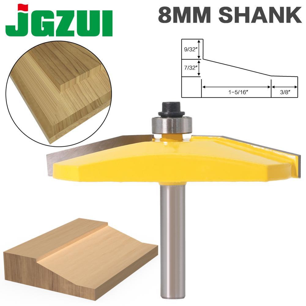 1pcs 15 Paised Panet Bit Anel Raiser Router Bit- Bevel Design - 8mm Shank Woodworking Cutter Tenon Cutter For Woodworking Tools