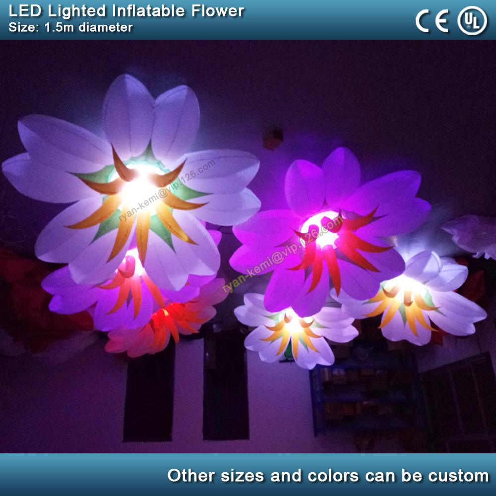 LED Lighting Inflatable Flower Balloon Bar Club Party Decoration Inflatable Lily Ball With LED Inflatable Plant Stage Wedding