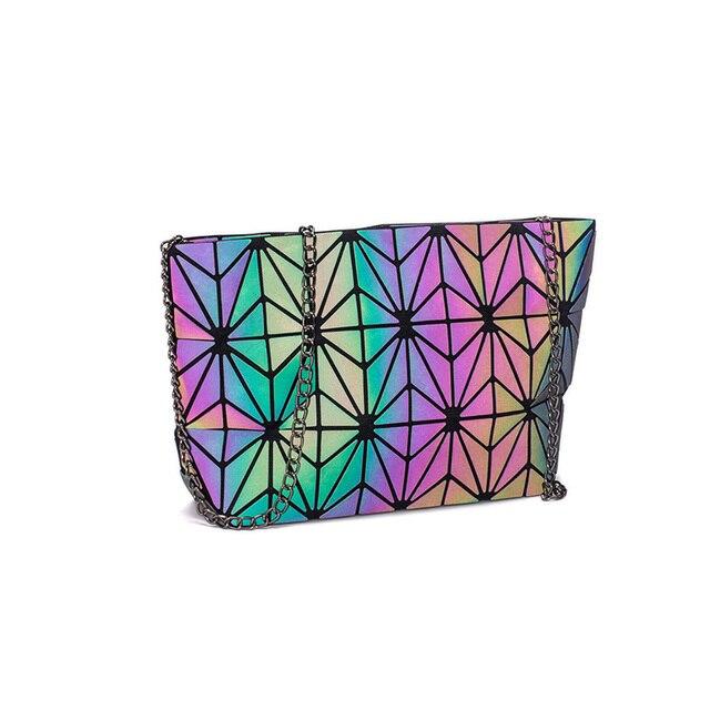 DIOMO Messenger Bag Women's Chain Bag 2019 Fashion Luminous Geometric Sling Bag Sac Femme Shoulder Strap Female Bolsas Feminina 3