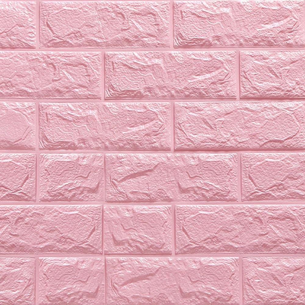 3D pegatinas de pared de ladrillo decoración de papel tapiz de pared impermeable de espuma para niños sala de estar DIY fondo Monet pintura placas colgantes de pared cerámica artesanal hogar Plato decorativo Hotel sala de estar Fondo pantalla pintura al óleo placas