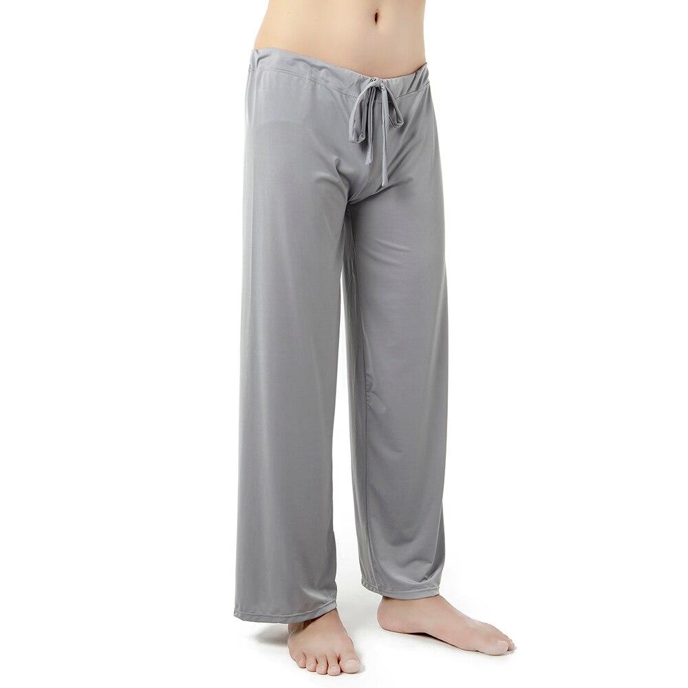 Mens Silk Pajamas Pyjamas Pants Lounge Pants Sleep Bottoms Sleepwear Men Home Clothing Pajama Sexy Living Hanging Lounge Pant