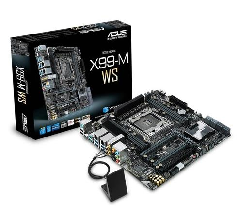 Asus X99-M WS Desktop Motherboard LGA <font><b>2011</b></font>-<font><b>V3</b></font> DDR4 for I7 <font><b>CPU</b></font> USB2.0 USB 3.0 64GB X99 Original motherboards free shipping image