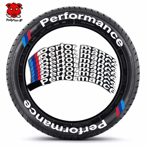 8pcs Car Tire Lettering Stickers 3D Permanent PVC Tire Lettering Decals Car Wheel Stickers Performance Decals Easy Stick