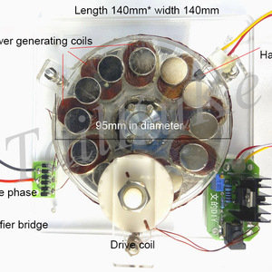Coreless generator, brushless