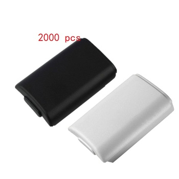 2000 pcs  Battery Pack Cover Shell Shield Case Kit for Xbox 360 Wireless Controller Repair Part Battery Compartment Pack Cover c