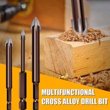 5pcs/set Efficient Universal Drilling Tool Cemented Carbide Drill Bit Ceramic Brick Wall Hole Opening Power Tools Accessories