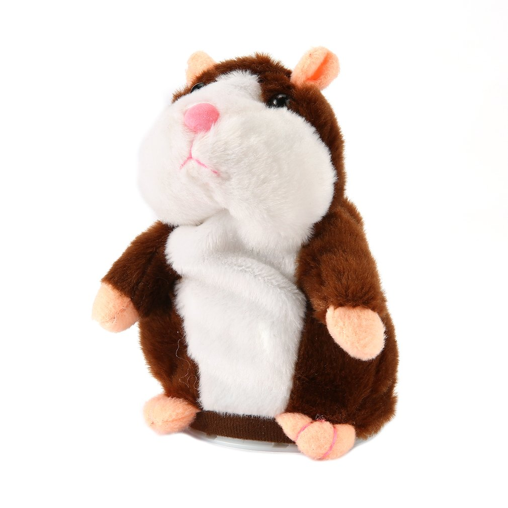 16/18cm Walking Talking Speaking  Hamster Plush Toy Baby Nodding Music Walking Sound Record Hamster Stuffed Kids Educational Toy