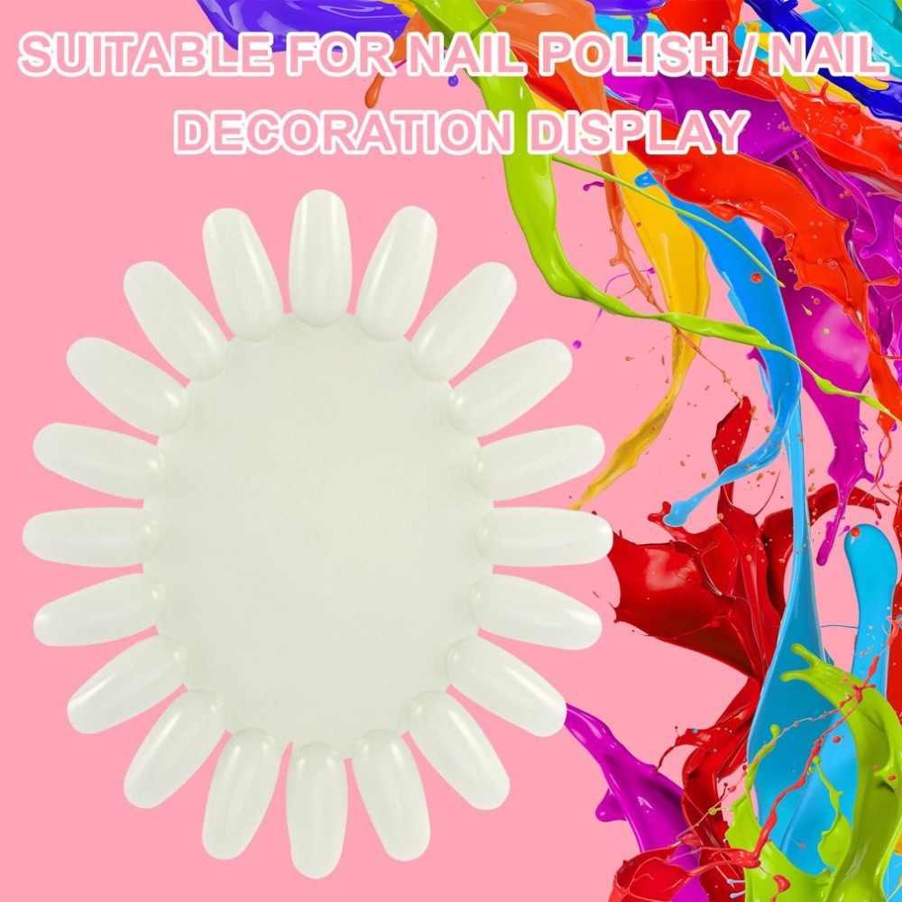 Hot 1 Pc Nail Art Valse Tips Display Acryl Practice Wheel Board Diy Nail Tool Nieuwste Brand New Fashion Goedkope