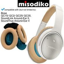 Misodiko החלפת אוזן רפידות כרית ערכות לbose אוזניות QC35 QC25 QC2 QC15, SoundTrue, AE2 AE2i AE2w אוזניות Earpads