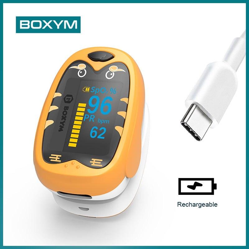 BOXYM Baby Finger Pulse Oximeter Pediatric Oximetro De Dedo SpO2 PR OLED Rechargeable Children kids Pulsioximetro    - AliExpress