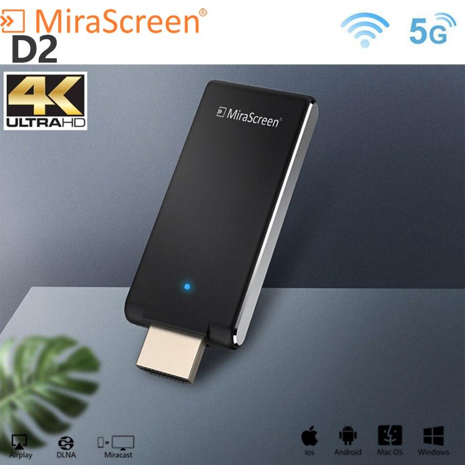 Mirascreen D2 TV stick 5G 4K anycast miracast wireless receiver display dongle miracast dlna airplay 5G TV Stick