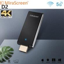 Mirascreen D2 TV stick 5G 4K anycast miracast wireless receiver display