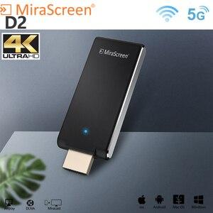Mirascreen D2 bâton de télévision 5G 4K anycast miracast récepteur sans fil affichage dongle miracast dlna airplay 5G bâton de télévision