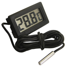цена на Brand new Mini Digital LCD Thermometer embedded 1 m line for refrigerator aquarium tools black