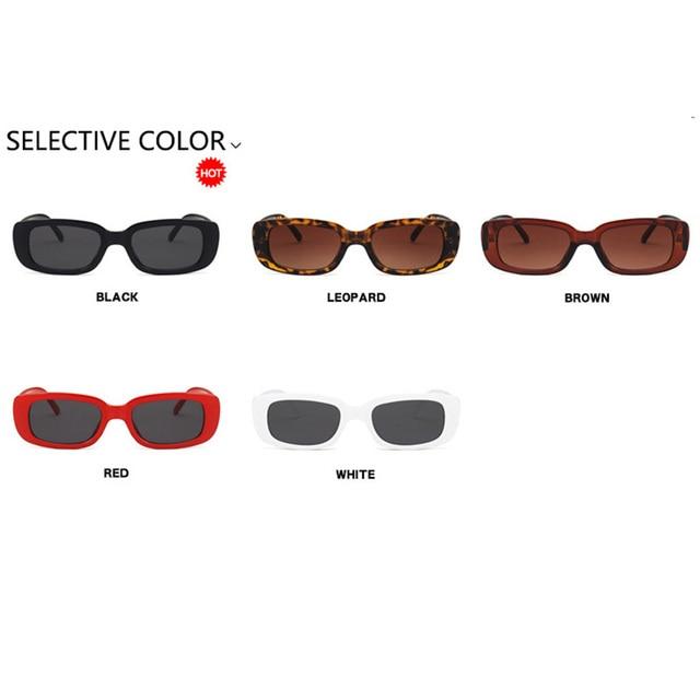 Luxury Brand Travel Small Rectangle Sun Glasses  6
