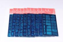 10 pcs /lot French Theme Rectangle Lace Nail Art Stamping Plate 01-10 Retro Image, BC01-010