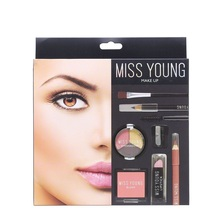 Missyoung Makeup Set Kit Box Professional Full  For Women Lipstick,makeup Brushes