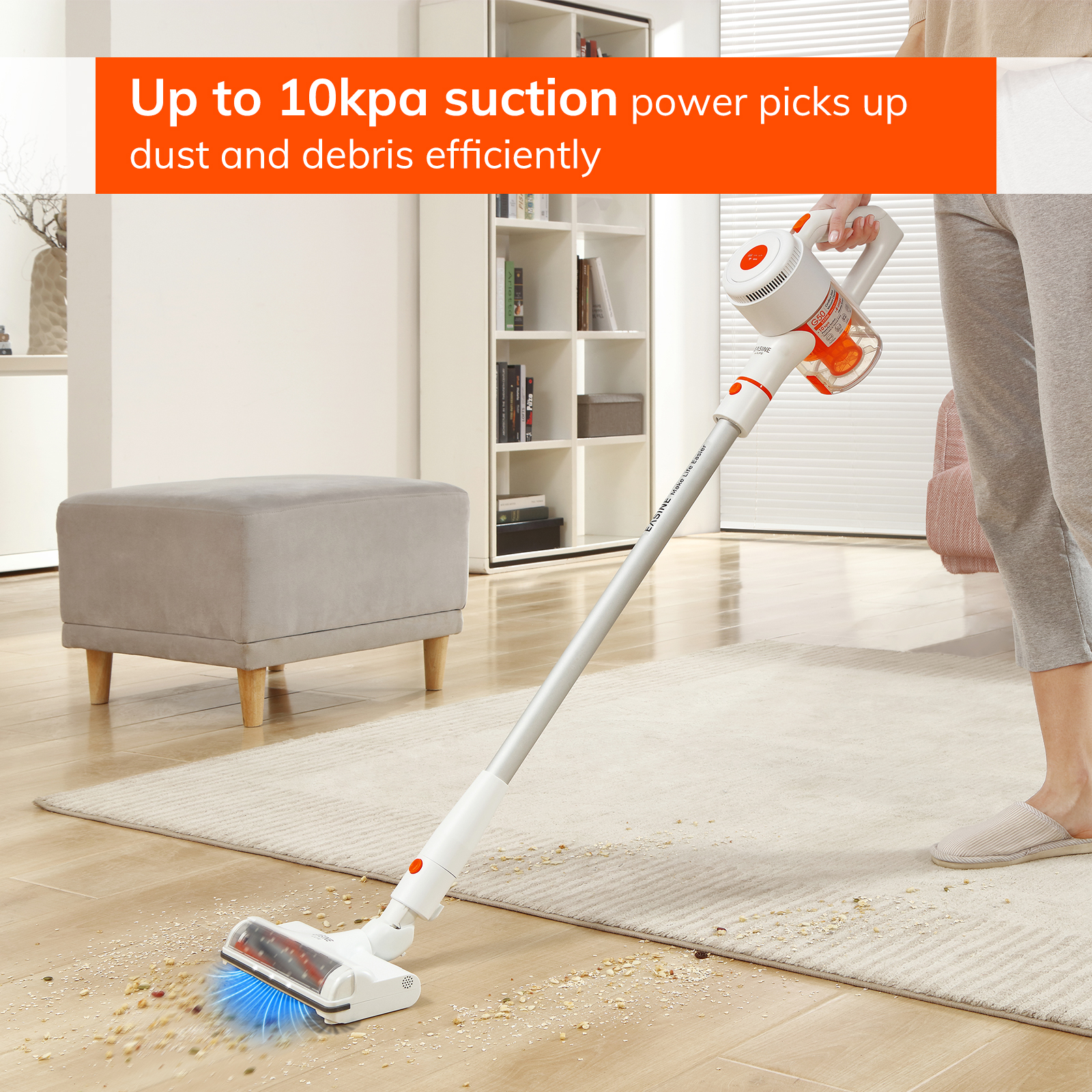 EASINE by ILIFE G50 handheld vacuum cleaner, 10,500Pa Powerful Suction ,LED  display, 35mins Runtime, 2.5Hours Fast Charge 2