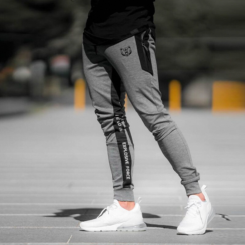 Mens Joggers Casual Pants Fashion Male Sportswear Tracksuit Bottoms Elastic Sweatpants Trousers Black Gyms Joggers Track Pants