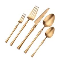 Наборы ножей ABUI-столовые приборы ложки вилки и ножи 18/10 нержавеющая сталь Западная кухня посуда столовый набор