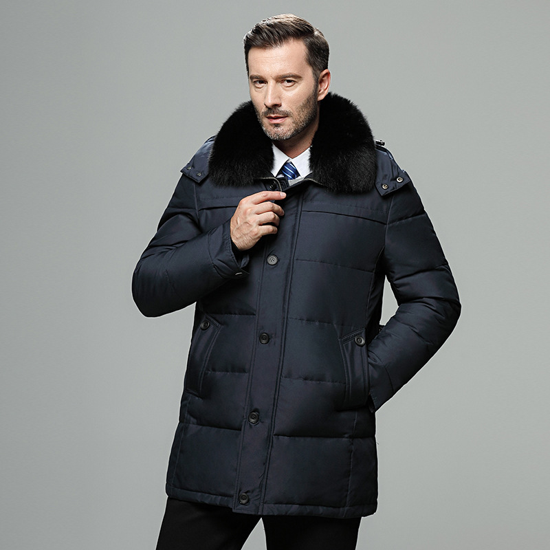 Jacket Winter 2020 Men Plus Size Warm Duck Down Jacket Men Overcoat Fur Collar Parkas Puffer Men's Jackets 687 KJ2649 's S