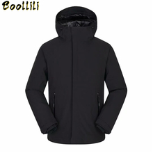 2020 Fashion Hip Hop Winter Jacket For Men Patchwork Hooded Thick Windbreakers Long Down Jacket for Men Brand Men #8217 s Down Jacket cheap Loose 9192 Casual zipper Full Epaulet PATTERN Zippers Wave Cut Pockets Thick (Winter) Broadcloth Polyester Acetate White duck down