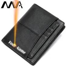 Wallet Men Coin-Walets Engrave MVA Short for Designer 856 Purse Slim Men's