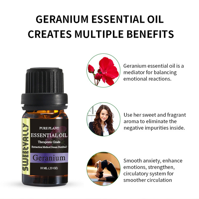 Geranium Essential Oil Relieve Stress Essential Oil for Humidifier Fragrance