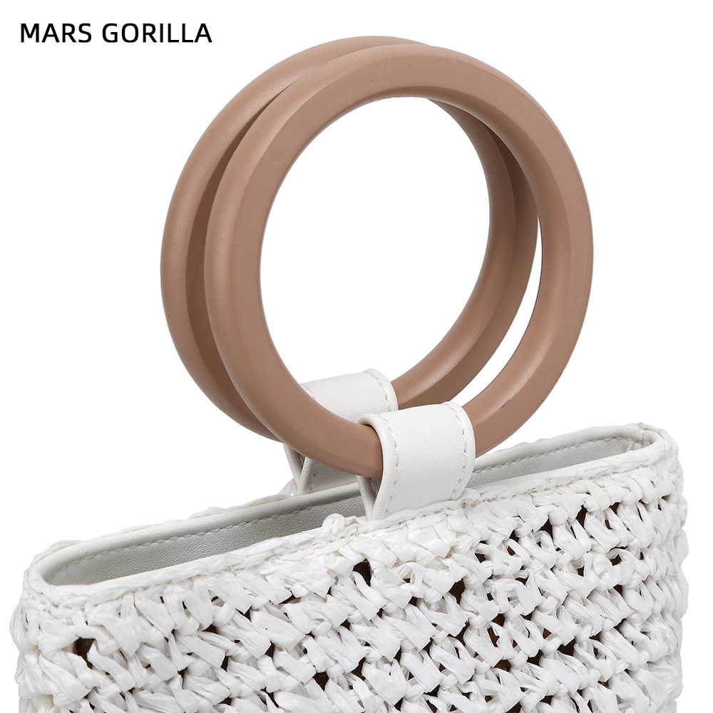 Women Handbags Rattan Straw Shoulder Bag 5