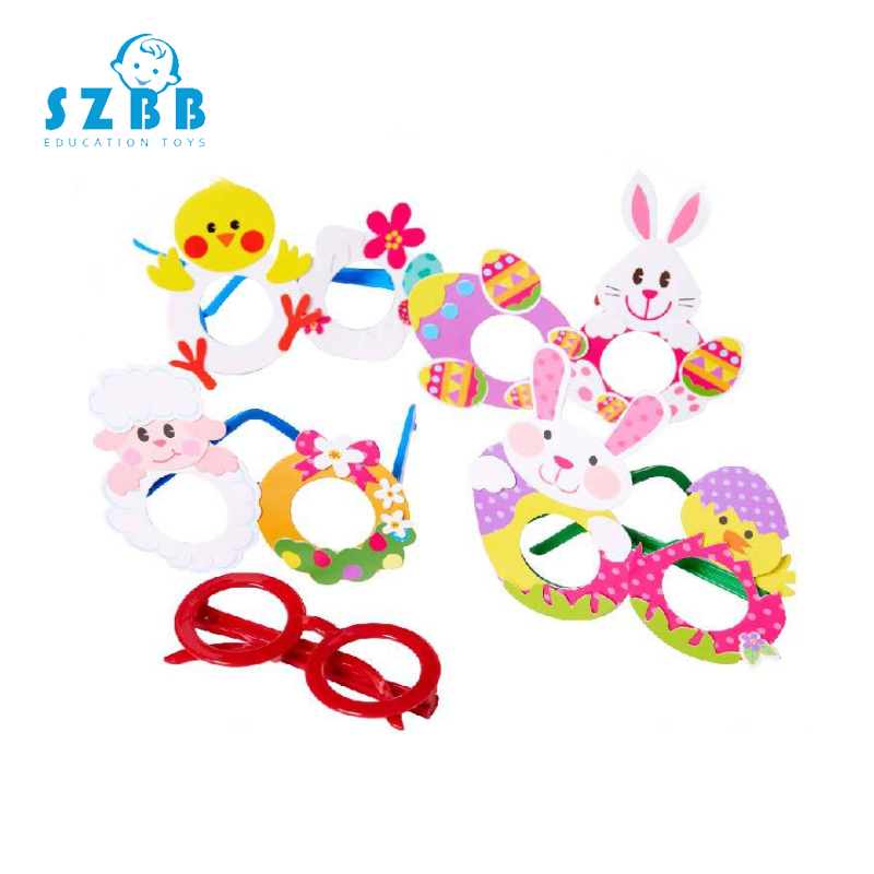 Sz Steam Creative DIY Glasses Baby Kids Children DIY Glasses Frame Educational Handmade Material Puzzles Crafts Toy For Children