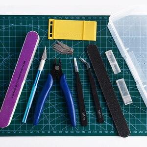 Image 4 - Modelling Tools Set Model DIY Hobby Accessories Cutting Mat Self Healing Grinding Machine Polishing Tools Kit For Gundam Tool