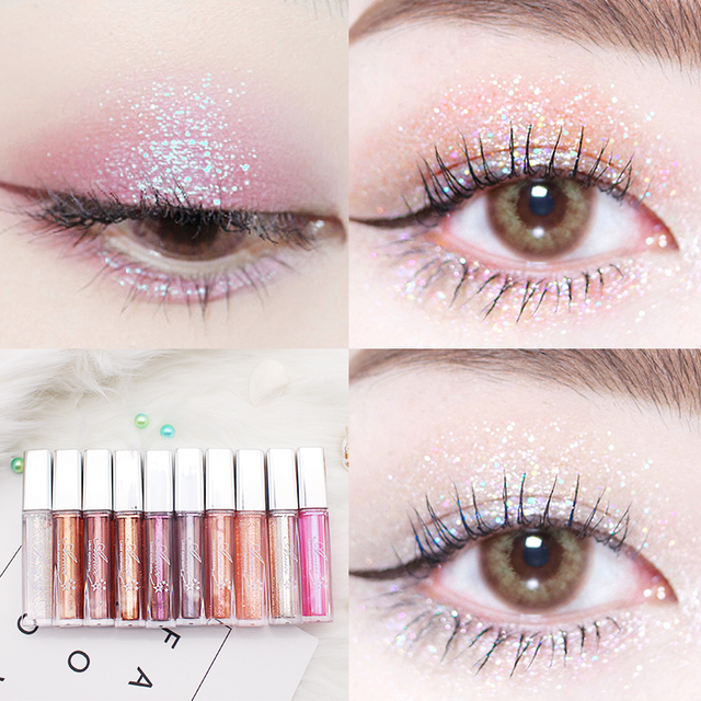10 Color Diamond Eye Shadow Nude Metal Shimmer Glow Glitter Single Liquid Eyeshadow Makeup Pigment Accessorices Beauty Cosmetics 1
