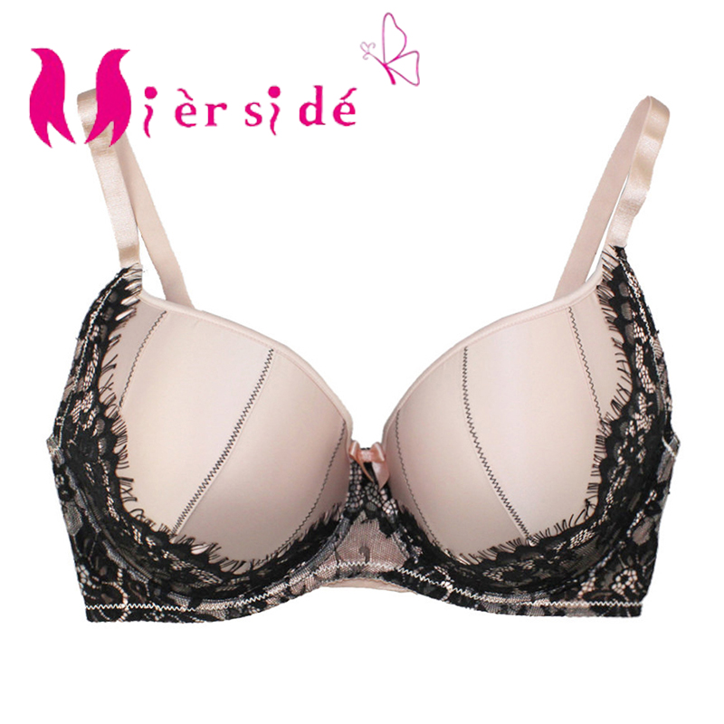 Underwear Women Lace Printing Push Up Bra Female Lingerie Plus Size 30 46 C//D//DD//DDD//E//F//FF//G,Black,dd,34