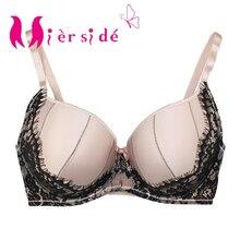 Mierside RA126 Padded Push Up bra Pink Black Flower Lace Women Underwear Sexy lingerie Plus Size 32 44 DD/DDD/E/F/FF/G/H
