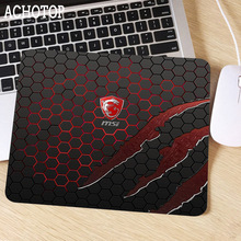 MSI 22x18 Mouse Pad Small Pads Family Laptop PC Gamer Computer Rubber Mouse Mat MousePad Desk Small Gaming Mousepad Cup Mat