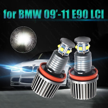 3-year Warranty Day Light 2800LM LED Light Bulb High Power Free Error 120W LED Angel Eyes for BMW 09'-11 3 Series E90 Sedan(LCI) image