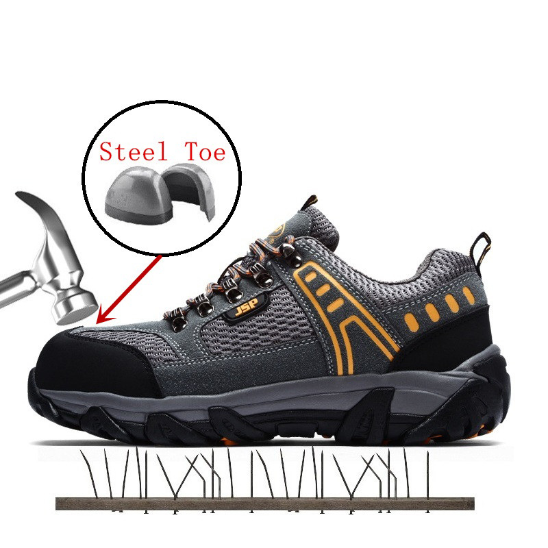 Men's Steel Head Work Safety Shoes Casual Breathable Outdoor Sports Shoes Puncture Boots Comfortable Industrial Boots