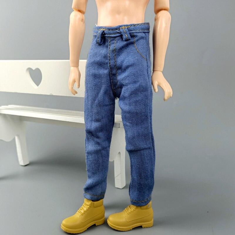 High Quality Handmade Denim For Ken Boy Doll Jeans Long Pants For Boyfriend Ken