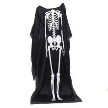 Costume Party-Supplies Robe Skull-Cape Halloween-Dress Crossdresser Scary Skeleton Ghost