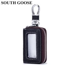 SOUTH GOOSE prawdziwy skórzany na klucze portfel mężczyźni uchwyty na klucze samochodowe dorywczo woreczek na klucze torba kobiety klucz organizator gospodyni etui na klucze tanie tanio Prawdziwej skóry Skóra bydlęca Unisex Kluczowe portfele CW-2770 Moda Top Layer Leather Stałe 8cm*5cm*2cm 7 5cm*4cm 6 Color Choices