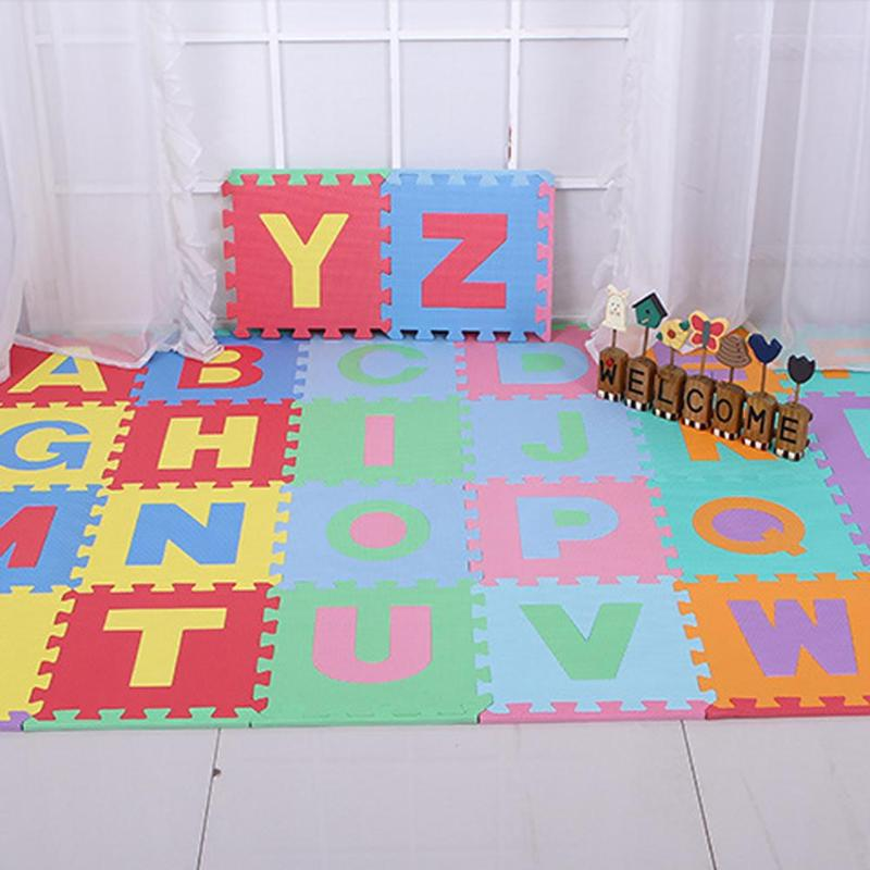 Cartoon Alphabet Numbers Floor Rug Baby Crawling Mat Kids Developing Mat Gym Games Play Foam Puzzles Soft Baby Carpets Toys