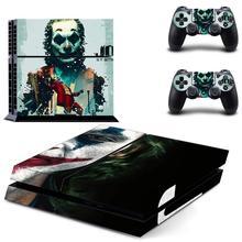 2019ฟิล์มJoker PS4สติกเกอร์Play Station 4ผิวPS 4สติกเกอร์สำหรับPlayStation 4 PS4คอนโซล & controllerผิวไวนิล