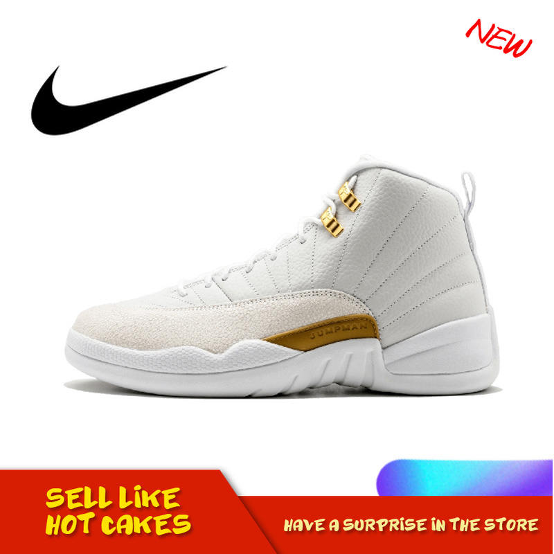 Original Authentic Nike Air Jordan 12 Retro OVO Men's Basketball Shoes Comfortable Classic Athletic Designer Footwear 873864-03 23