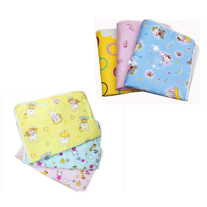 Baby Reusable Cotton Waterproof Wrap Pad Diaper Mat