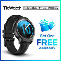 TicWatch E2 Android Wear Smart Watch with GPS Wear OS by Google iOS& Android compatible 5ATM Waterproof Long Battery life