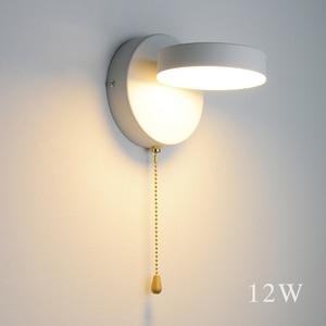 Image 2 - Nordeic LED โคมไฟ 3 สีพร้อมสวิทช์ผนัง 12W สีขาวสีดำในร่มโมเดิร์นสำหรับ Home บันไดห้องนอนข้างเตียง