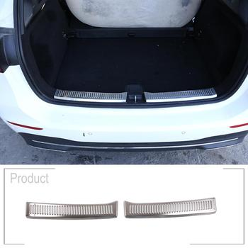 Car Stainless Steel Brushed Bumper Plate Protector Trim For Mercedes Benz B Class B200 2020