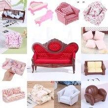 Множество типов 1/12, имитация кукольного домика, диван-подушка, миниатюрный диван для куклы, домашняя мебель, гостиная, аксессуары для детей, ...
