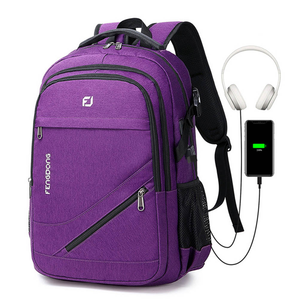 Fashion Laptop Backpack For Women Men School College Backpack With USB Charging Port Travel Business Bag Fits 17 Inch Notebook