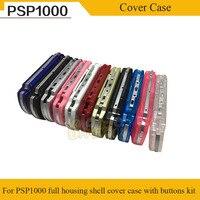 무료 드라이버가있는 PSP 1000 용 버튼 케이스 셸 하우징 커버가있는 소니 PSP1000 용 11 색 풀 하우징 셸 커버 케이스